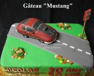 """Recette Gâteau """"Mustang"""" en Pâte à Sucre"""