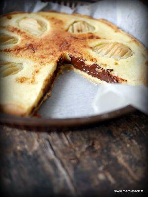 Recette Tarte poires et chocolat