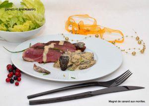 Recette Magret de canard aux Morilles