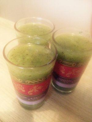 Recette Soupe kiwi-menthe