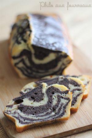 Recette Cake marbré Parmesan & tapenade