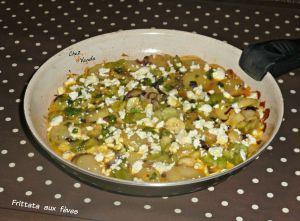 Recette Frittata aux fèves