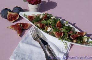 Recette Salade automnale aux figues, noix, jambon et bleu