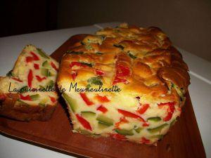 Recette Cake aux courgettes et poivrons