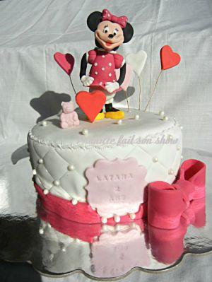 Recette Gateau Minnie Mouse { sujet modelé en pâte à sucre }