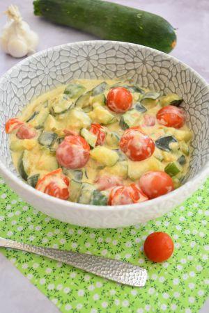 Recette Courgettes, tomates et Boursin échalote et ciboulette