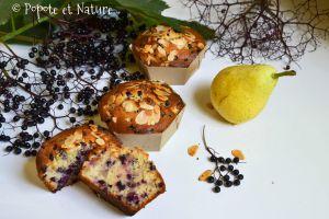 Recette Des cakes à dévorer individuellement ultra moelleux aux baies de sureau noir et aux poires