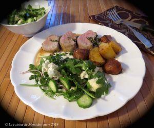 Recette Filet de porc farci au beurre de champignons + bis
