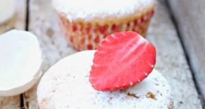 Recette Muffins a l' amande avec des fraises