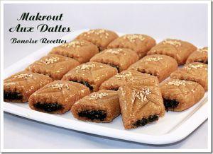 Recette Makrout aux dattes frit
