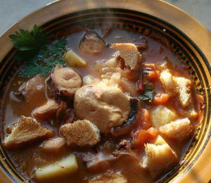 Recette Soupe de poulpe