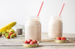 Recette Chia smoothie fraise banane
