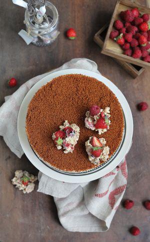 Recette Croustillant fruits rouges et chocolat blanc