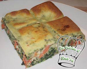 Recette Quiche sans pâte épinards et saumon
