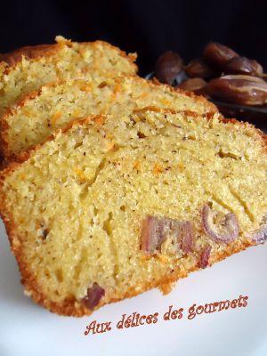 Recette Cake a l'orange, aux dattes et a la cannelle
