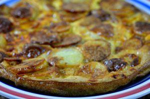 Recette Frittata de pomme de terre et chorizo, comme une tortilla de patatas cuite au four