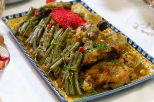 Recette Tadjine de poulet aux haricots verts