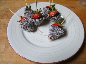 Recette Fraises coco - recette de fraises
