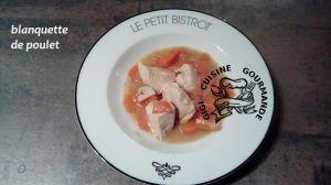 Recette Blanquette de poulet au cookeo