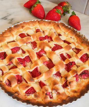 Recette Tarte aux fraises et amandes