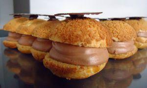 Recette Éclairs chocolats et praliné amandes