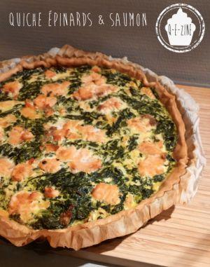Recette Quiche épinards et saumon