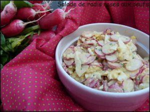 Recette Salade de radis roses aux oeufs