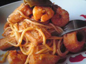 Recette Spaguettis aux fruits de mer