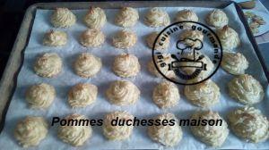 Recette Pommes duchesse au cookéo