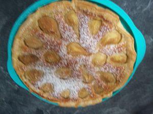 Recette Tarte aux poires et aux amandes
