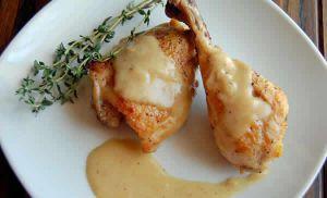 Recette Cuisses de poulet à la moutarde COOKEO