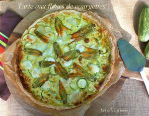 Recette Tarte fleurs de courgettes, courgettes et mozzarella