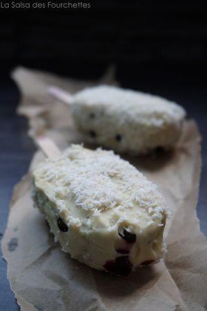 Recette MAGNUM Myrtilles Chocolat Blanc et Coco