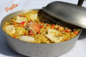Recette Paella fruits de mer
