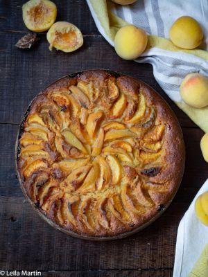 Recette Gâteau aux pêches et au safran d'Alsace