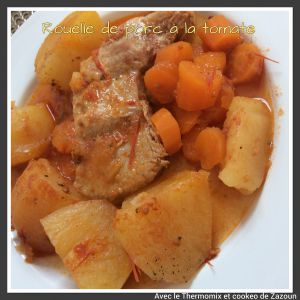 Recette Rouelle de porc aux carottes et pommes de terr sauce tomate au cookeo
