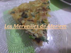 Recette D'omelette de frite a l'oignon