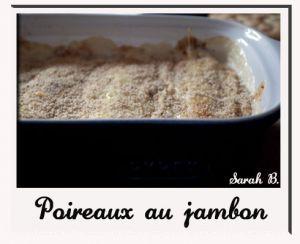 Recette Poireaux au jambon