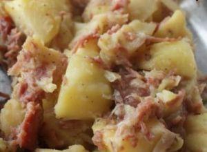 Recette Pommes de terre aux lardons