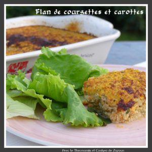 Recette Flan aux courgettes et carottes possible sans lactose, caséine,  sans gluten