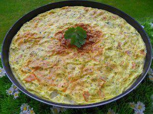 Recette Frittata au saumon fume (thermomix)