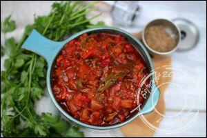 Recette Salade juive – salade de poivrons grillés et tomate
