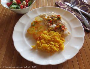 Recette Filets de poisson blanc, sauce à la thaïe +
