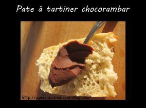 Recette Pate à tartiner Chocorambar