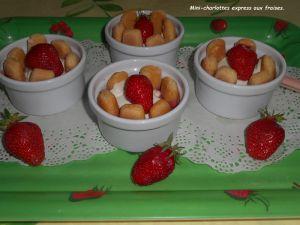 Recette Mini-charlotte express aux fraises