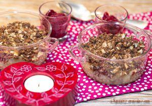 Recette Crumble pomme-poire au chocolat et au spéculoos : savoureuse Saint-Valentin