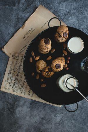 Recette Cookies véganes chocolat-praliné