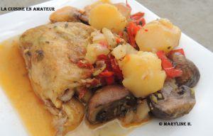 Recette Cuisses de poulet au chorizo et légumes