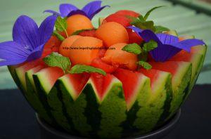 Recette Salade 2 melons au Floc de Gascogne