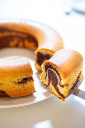 Recette Gâteau mousseline marbré